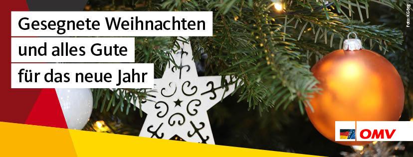 Gesegnete Weihnachten und alles Gute für das neue Jahr!